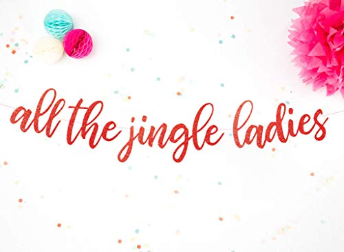 Christmas Decorations Banner all the jingle ladies Fun Home Christmas Garland Modern Party