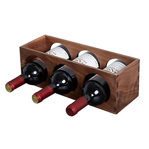 Xu Yuan Jia-Shop-Botelleros Madera Maciza Estante de Vino Hogar Pequeño Estante del Vino Escritorio Creativo Estante del Vino Decoración Adornos