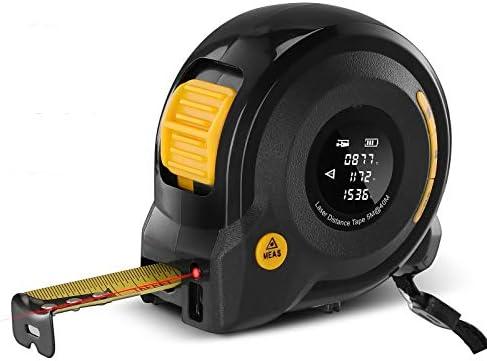 Digital Laser Distance Meter 2 in 1 40M Laser Rangefinder 5M Tape Measure with LCD Display Digital product image