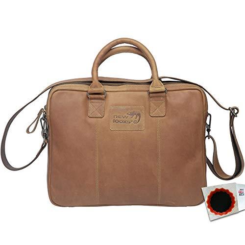 New Looxs Radtasche Santos Leather 13,5L Haken 40 x 31 x 11cm Cognac Fahrrad