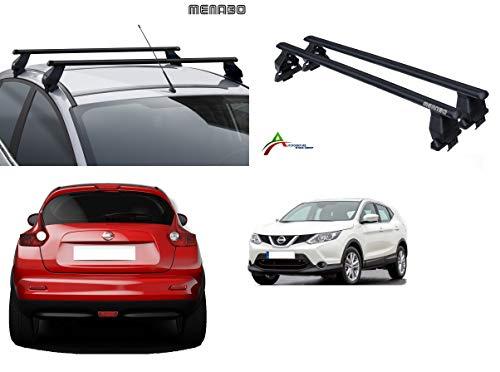 Barras portaequipajes de techo para coche sin raíles, sistema de montaje con barras + kit de fijación específico para coche