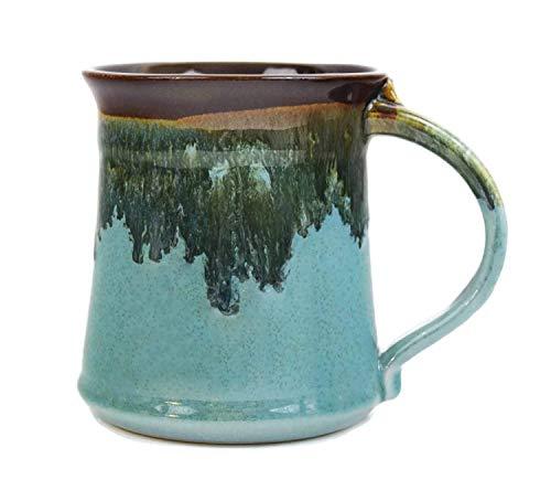 Clay in Motion Handmade Medium Mug (Ocean Tie)