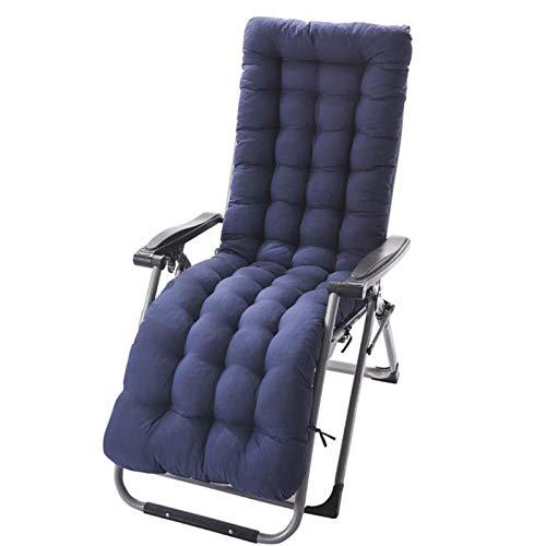 KTYRONE Sillón reclinable sillón de smilera colchón Chaise Longue cojín ratán Silla Tatami Estera Solo Asiento Almohadilla,Azul,49'X19'X3'