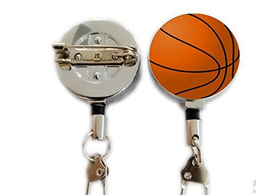 Portadocumenti Retrattile con moschettone, per Basket, Baseball, Pallacanestro, Pallacanestro, Calcio, 3 Pezzi
