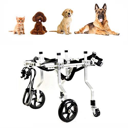 Cora Pet Hunderollstuhl für Klein/Großer Hund, Rollstuhl für Vorderbein/Hinterbein/Hintere Füße, Gehhilfe Hundegehilfe Hunderollwagen, Dog Wheelchair für Haustier mit Einem Gewicht von 1-75 kg