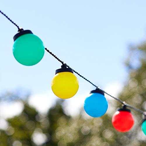 Lights4fun 30er LED Party Lichterkette bunt strombetrieben Timer Innen und Außen
