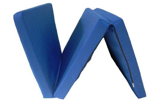 Colchón para cuna de viaje, 60 x 120 cm, color azul marino