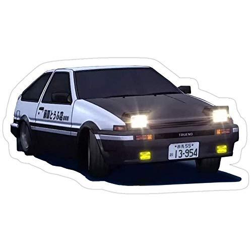 Vinyl Sticker for Cars, Trucks, Water Bottle, Fridge, Laptops Initial D Trueno Stickers (3 Pcs/Pack)