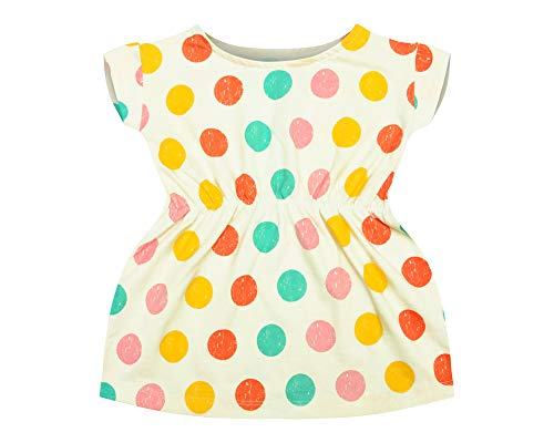 Clover Kingdom Infant Baby Toddler Girl Frock One Piece Cotton Outfits Clothes Playwear Dresses Half White