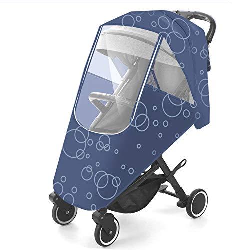 XBSJB Cubierta De Lluvia para Cochecito Protector De Lluvia Resistente Al Agua Y Duradero para Bebés Material Seguro Fácil De Instalar para Cochecito De Bebé Viajes Al Aire Libre,Azul