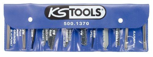KS Tools 500.1370 Kit di Montaggio e Smontaggio Autoradio, 18 Pezzi, in Busta di Plastica