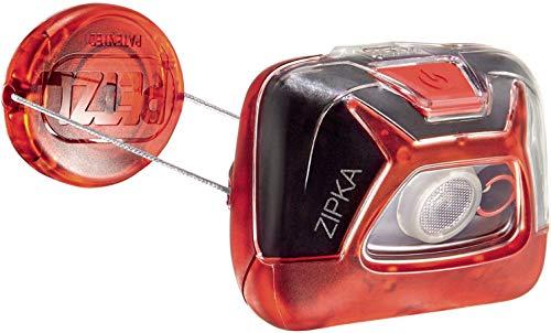 Desconocido Petzl Zipka - Linterna con Cinta para Cabeza, Rojo, 2 lámpara(s) LED, 200 LM, Talla única