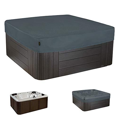 HENTEX Outdoor Whirlpool Indoor Aussen Whirlpool Spa Hot Tub Pool Abdeckung, Grau, 230x230x25H cm