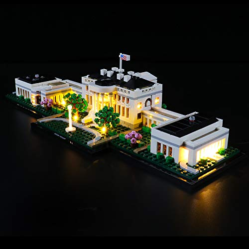 Briksmax Led Lighting Kit for Architecture The White House - Compatible with Lego 21054 Building Blocks Model- Not Include The Lego Set