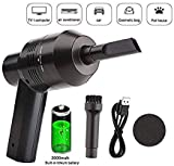 HONKYOB Cordless Keyboard Cleaner Rechargeable Mini Computer Vacuum Cleaner Desk Vacuum Cleaner for Cleaning Dust,Hair,Crumbs,Eraser Scrap,Cigarette Ash,Laptop,Piano,Car,Pet House