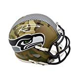 Russell Wilson Autographed Seattle Seahawks Camo Mini Football Helmet - BAS COA