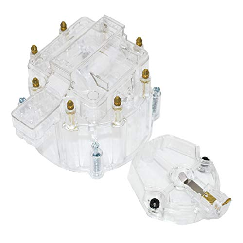 A-Team Performance HEI OEM Distributor Cap, Rotor and Coil Cover Kit 8-Cylinder Clear
