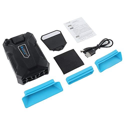 CNmuca Refrigerador de baixo nível de ruído Mini Ventilador de extração de ar Radiador Controle inteligente de temperatura Refrigerador de notebook Exaustão CPU Cooler Preto
