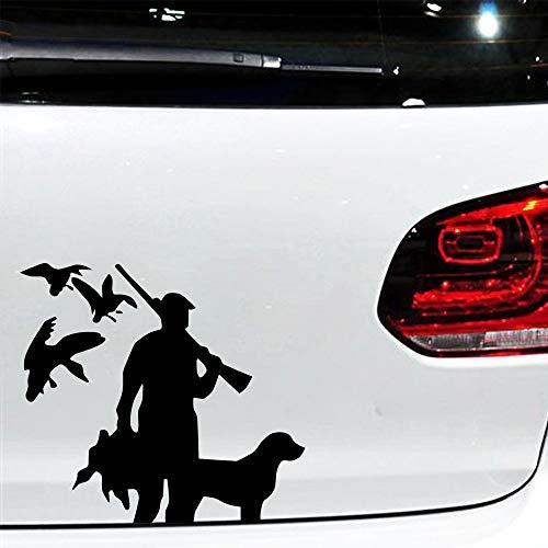 Geiqianjiumai nieuw ontworpen jagerkop vinyl applicatie auto achteruitkijkspiegel bumper sticker motorkap raambekleding