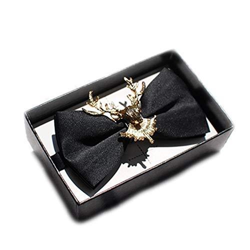 YYB-Tie Mode binden Goldene doppelte Metallrotwild-Persönlichkeits-Handbuch-hochwertige Krawatten-Heiratsparty-Geschenkbox