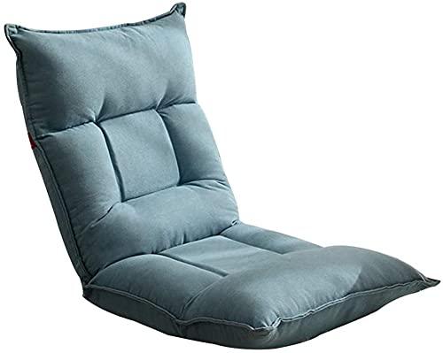 Chilequano Silla Lazy Sofa Lounge con, Silla de meditación Plegable en el hogar de 42 Engranajes Silla de Juego Acolchada con Acolchado Ajustable con látex Engrosado para Juegos de Lectura