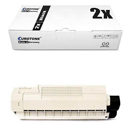 2X Eurotone Toner für Oki C 5850 5950 wie 43865724 Black Schwarz Druckerpatronen Patronen