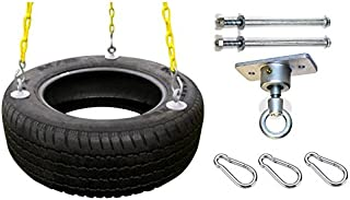 Eastern Jungle Gym Heavy-Duty 3-Chain Rubber Tire Swing...