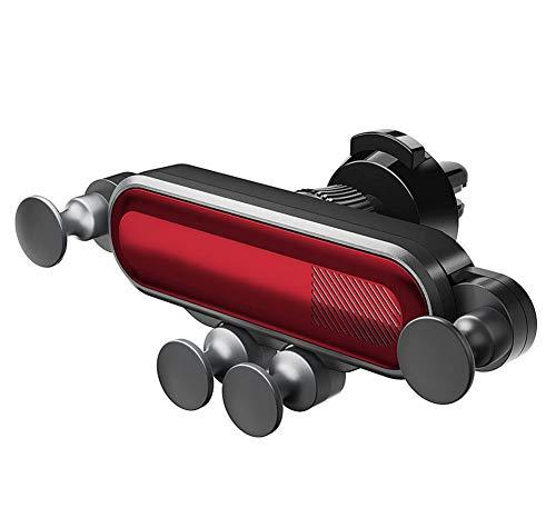 HW Soporte para teléfono de Coche, ventilación por Gravedad Car Mount Sostenedor 360 ° iPhone XS/XS MAX/XR/X / 8/8,Red