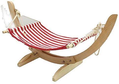 ZXL Robuust houten kattenbed, samengesteld uit kattenhuis, gezellige hangmat, hangend, schommel-wiegen-ligmat voor kleine hondenhuisdieren