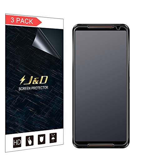 JundD Kompatibel für Asus ROG Phone 2 Schutzfolie, 3er Packung [Antireflektierend] [Nicht Ganze Deckung] [Anti Fingerabdruck] Matte Folie Bildschirmschutzfolie für Asus ROG Phone 2 Bildschirmschutz