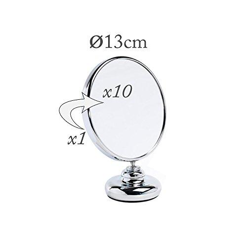 Miroir Grossissant x10 Double Face Diamètre 13