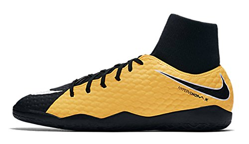 Nike Jr. Hypervenom X Phelon 3 Dynamic Fit IC Fußballschuhe, Orange (Laser Orange/Black-White-Volt), 36 EU