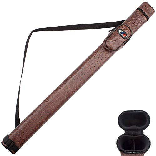 GSE Games & Sports Expert 1x1 Deluxe Hard Billiard Pool Cue Stick Carrying Case (Several Colors...