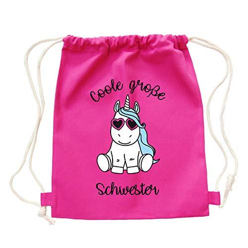 """Partybob Kinder Rucksack """"Coole große Schwester"""" - Einhorn (Pink)"""