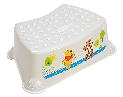 Perl Premium Tritthocker Disney Winnie Puuh stabiler Hocker für Kinder mit Anti-Rutsch-Funktion perl weiß mit einzigartiger Maserung individueller angenehmer Glitzereffekt