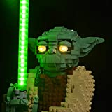 Kyglaring Juego de luces de iluminación para Lego 75255 Star Wars Yoda Construcción LED Kit de luz para Lego 75255 (solo luz incluida)