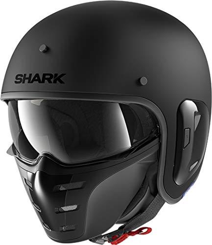 SHARK Herren NC Motorrad Helm, Schwarz, L