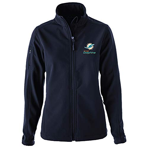 Dunbrooke Apparel NFL Miami Dolphins Womens Ladies Sonoma Softshell JacketSonoma Softshell Jacket, Team, Large