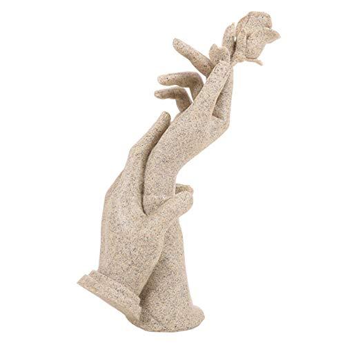ZSQZJJ Jardín al Aire Libre Escultura Figura Estatua decoración,Mano de Resina nórdica en Piedra Arenisca Rosa, Regalo de Boda, Escultura, estatuilla, artesanía, Estatua