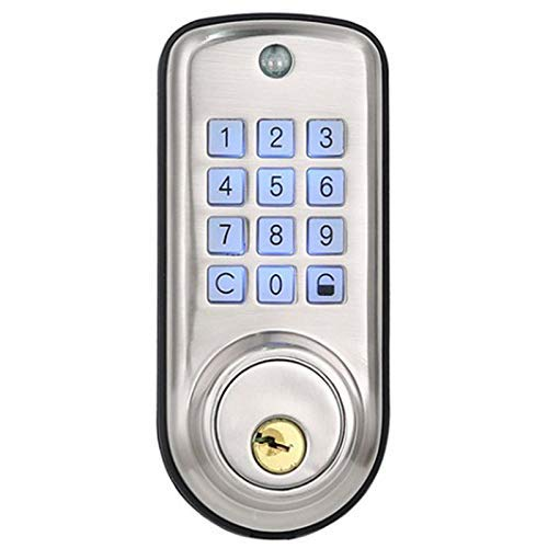 Yangangjin Digitaal deurslot, waterdicht, intelligent keyless wachtwoord, pin-code-deurslot, elektronisch grendelslot, sleutelloos, smart hangslot