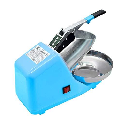 LKOER Crusher de Hielo, máquina de afeitadora de Hielo eléctrica, Fabricante de Cono de Nieve de Acero Inoxidable para Helados, Bebidas frías, Postre de Frutas y jinyang
