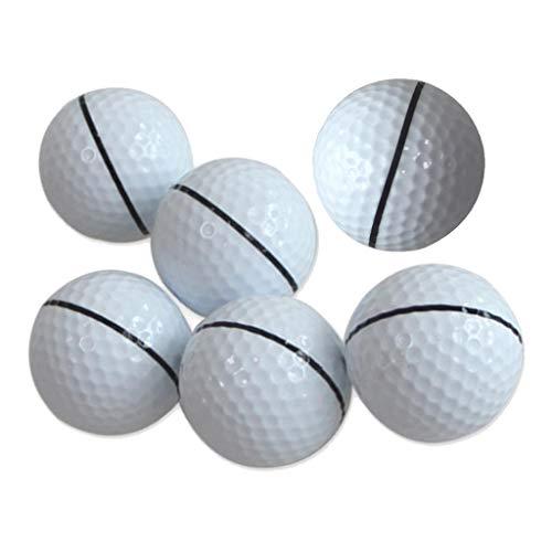 SM SunniMix Golfball Gummi Weiss Golfbälle, 6er Set