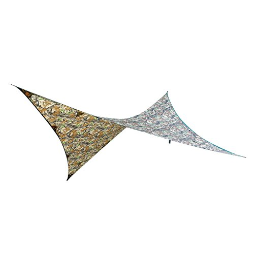Générique Non-Brand Voiles D'ombrage Étanche Couverture en Polyester pour Camping Tente Jardin - Camouflage-B, 2.74 x 2.74 M