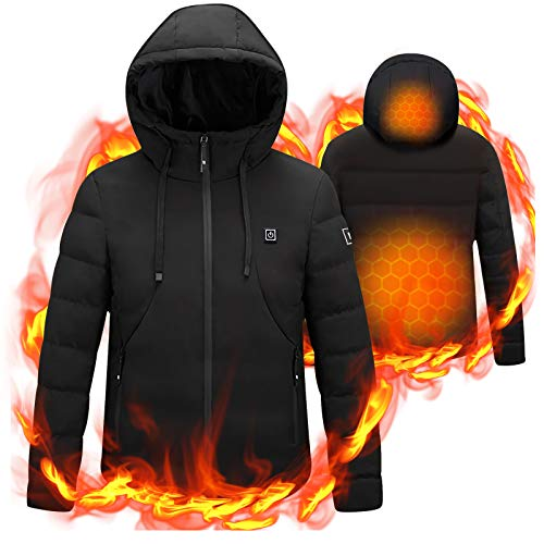 Heated Coat USB Electric Jacket Heating Vest for Motorcycle Riding...