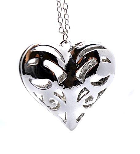 Vampire Diaries inspirado Caroline Forbes Corazón Collar de Tono Plata Antigüedades - La familia originales - Corazón Azteca