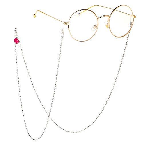 Bril met ketting voor persoonlijkheid, anti-skibril van metaal, retrobril voor zonnebril, bril, holder strap eyewear