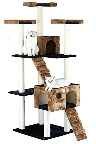 Go Pet Club 72' Cat Tree Condo Furniture Brown/Black Color