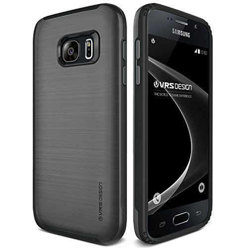 Galaxy S7 Case, VRS Design [Verge][Steel Silver] - [Heavy Duty][Military Grade Drop Protection] For Samsung S7