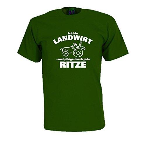Ich Bin Landwirt, witzig bedrucktes T-Shirt für Arbeit und Beruf lustiger Spaß Spruch Geschenk Funshirt Arbeitskleidung große Größen (FSA039) S