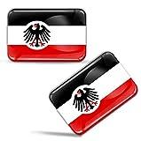 Biomar Labs 2 x Aufkleber 3D Gel Silikon Stickers Flagge Deutsches Reich Deutschland Flag Reichsadler Auto Motorrad Fahrrad Fenster Tür PC Handy Tablet Laptop F 68